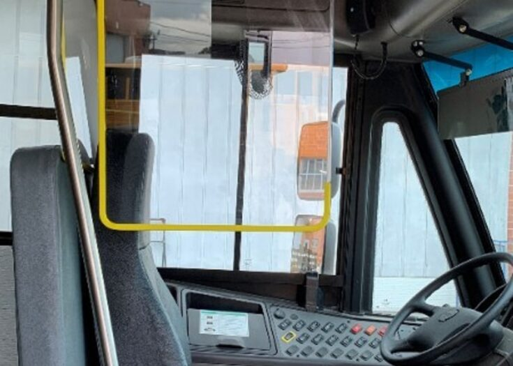 The ONLY School Bus Driver Barrier System Approved by Thomas Built Buses
